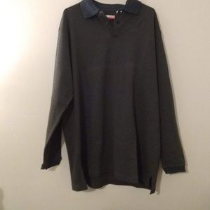 Perry Ellis Brown V-neck Pullover Sweater